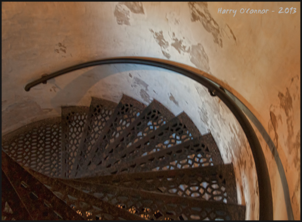 Cana Island lighthouse stairs