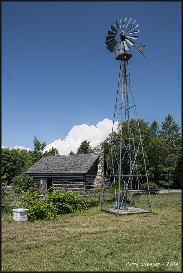 Cabin and windmill
