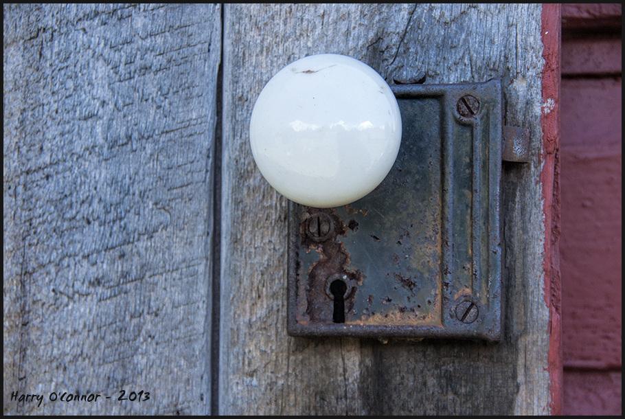 Shed door knob