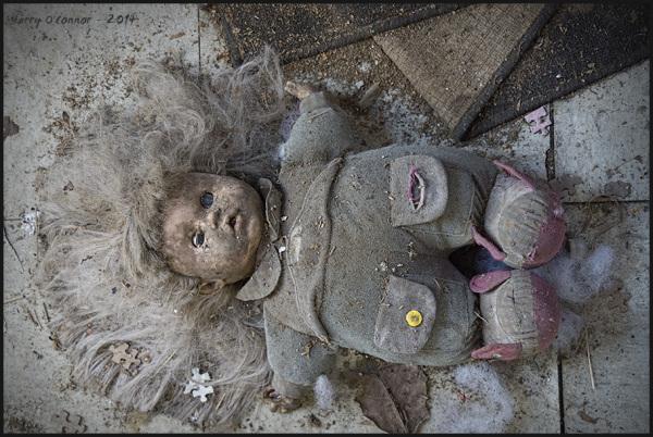Smoke damaged doll