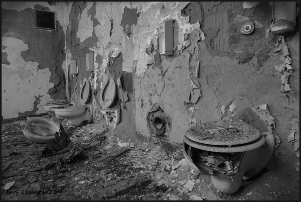 Shattered toilets