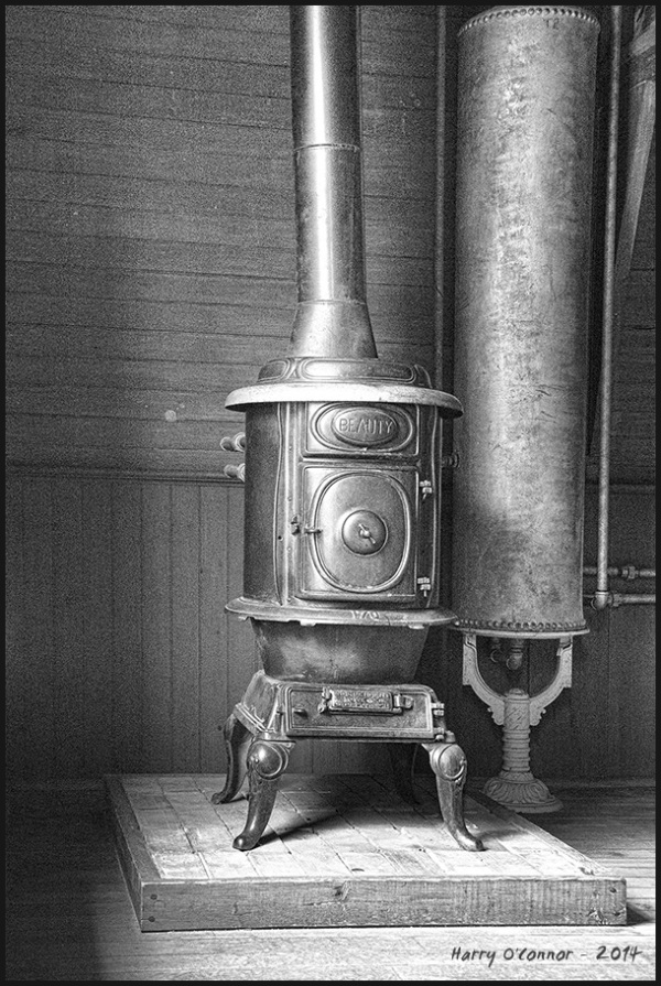 Wood stove and water heater