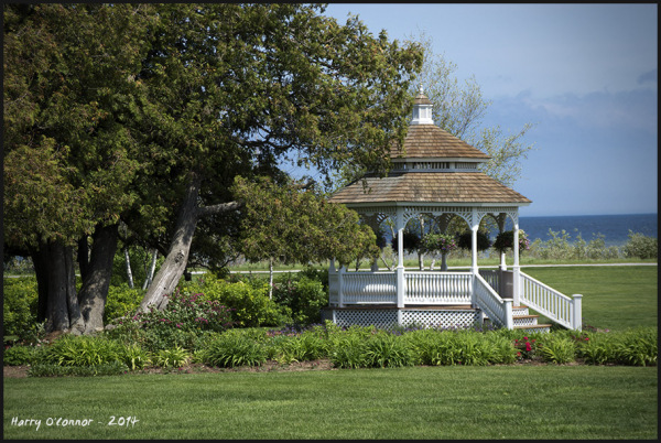 color gazebo landscape