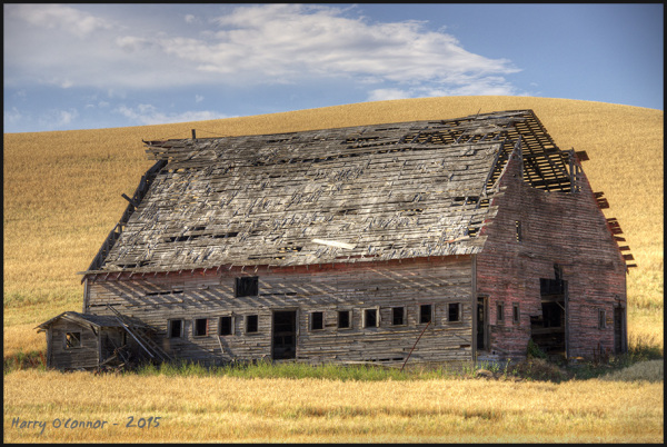Shell of a barn
