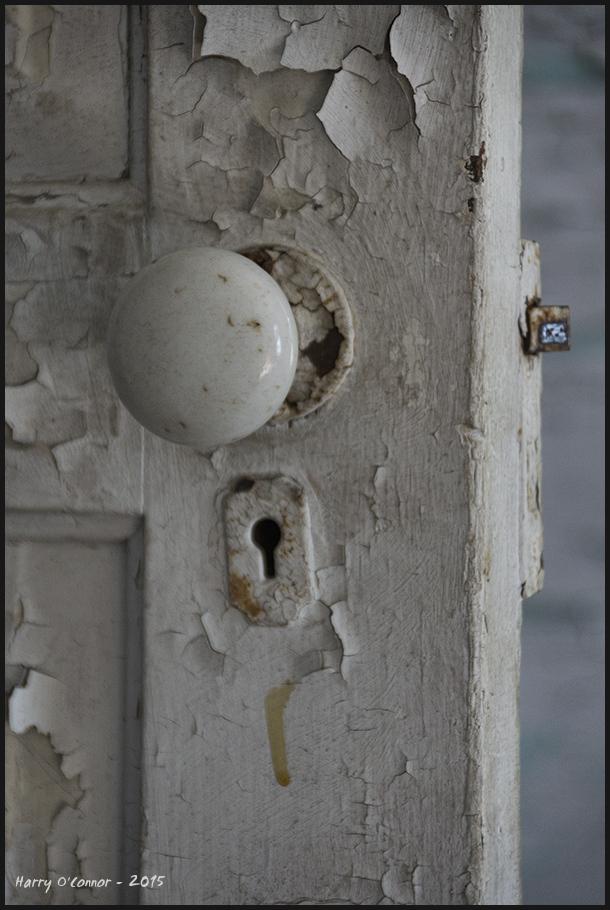 Doorknob & peeling paint
