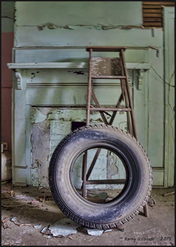 Tire and ladder