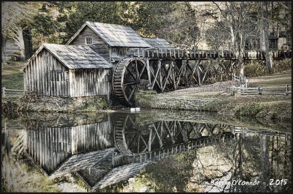 color mabry mill blueridge