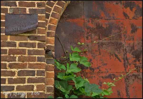 Warehouse door   close up