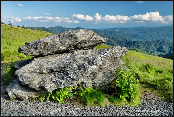 Boulders along the path