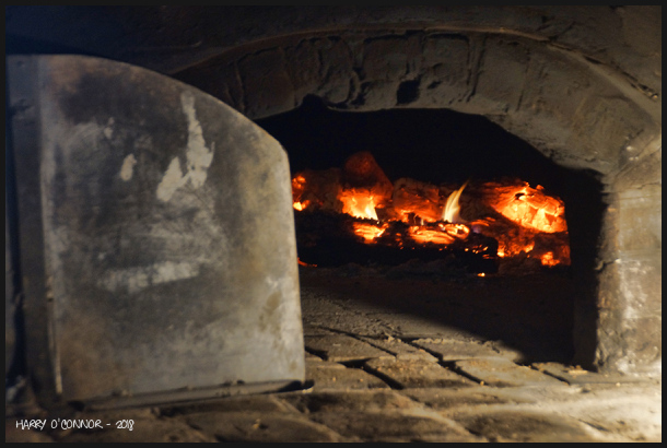 Wood fired hearth