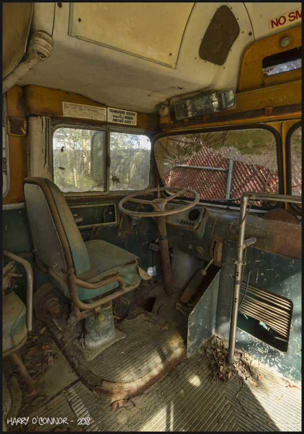 The bus driver's seat
