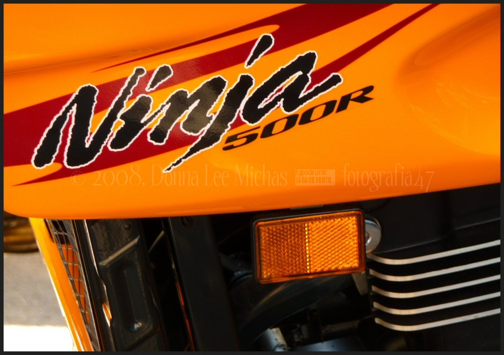 Abstract of Ninja 500R motorcyle.
