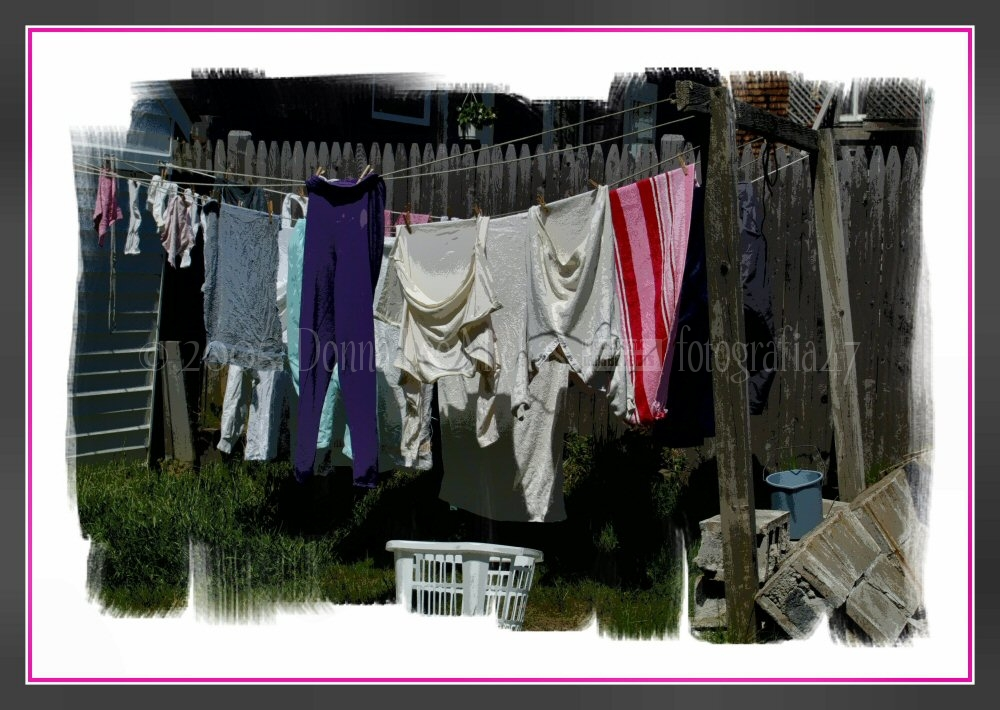 Colourful laundry on the line, Provincetown, MA.