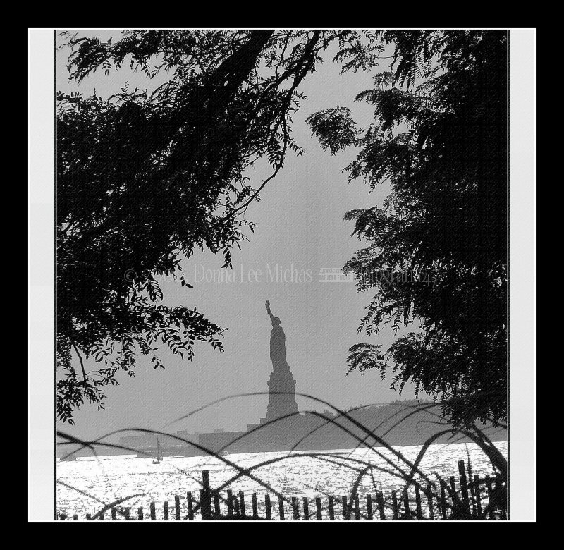 Statue of Liberty, at the gateway to America.