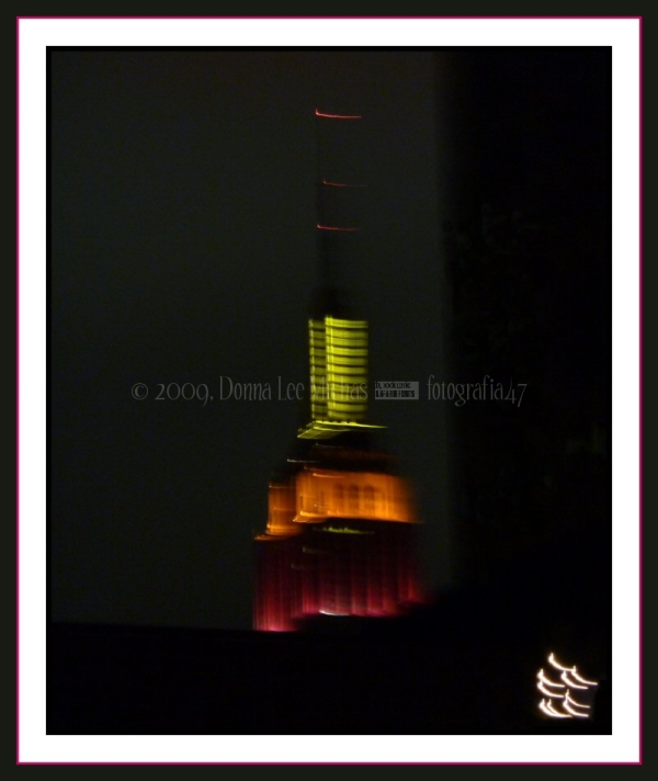 Blurred shot of the Empire State Building at night