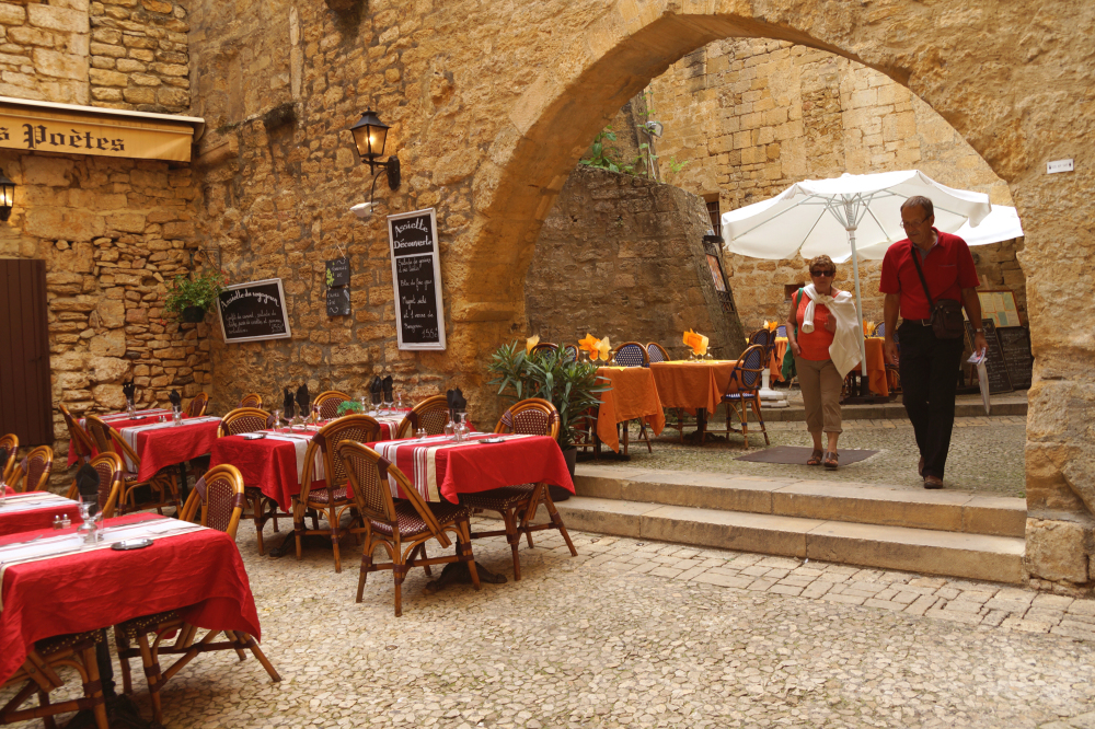 Restaurants de Sarlat, Dordogne.