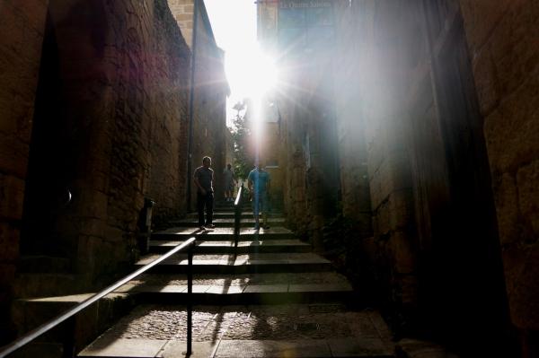 Escalier en contre-jour