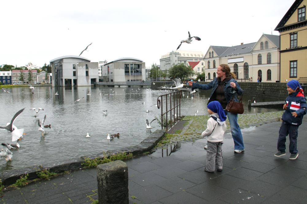 Famille à Reykjavik