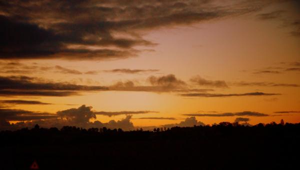 Sur la route de Juignac, le soir