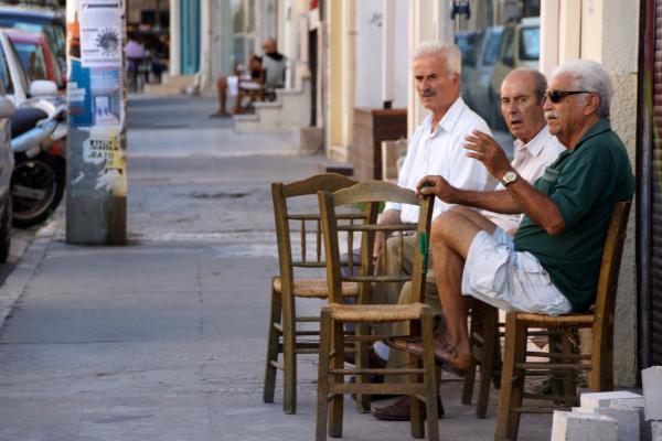 Scène de rue à Chania