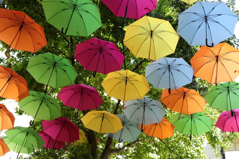 L'envol des parapluies