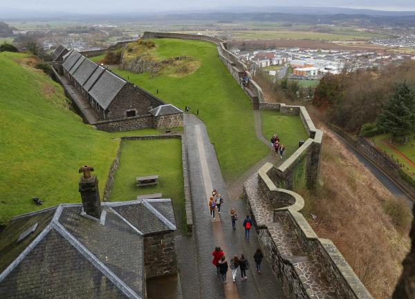 Stirling, les remparts du château.