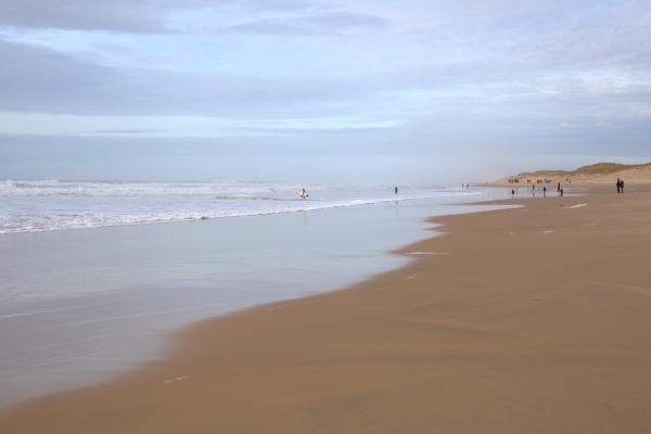 La plage en automne