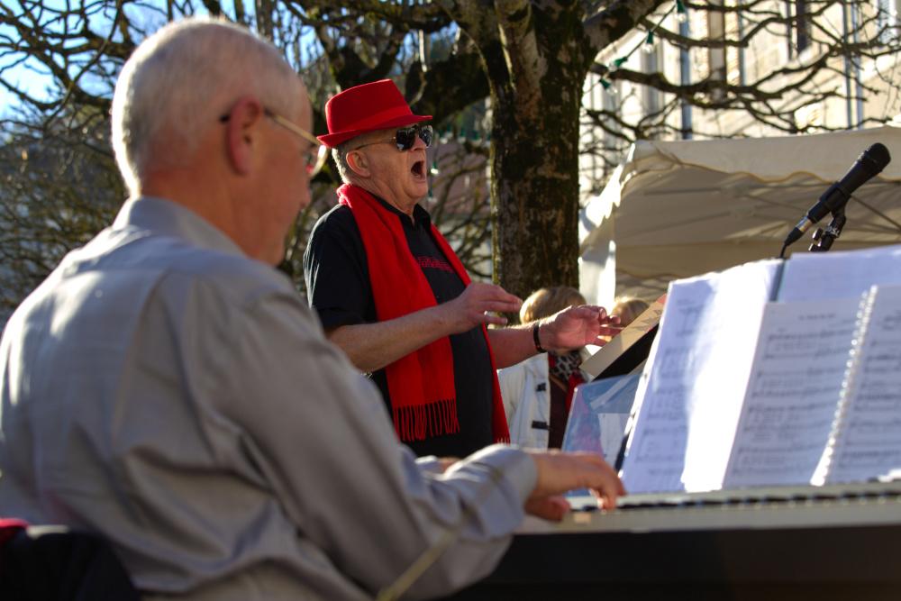 La chorale au marché de Noël