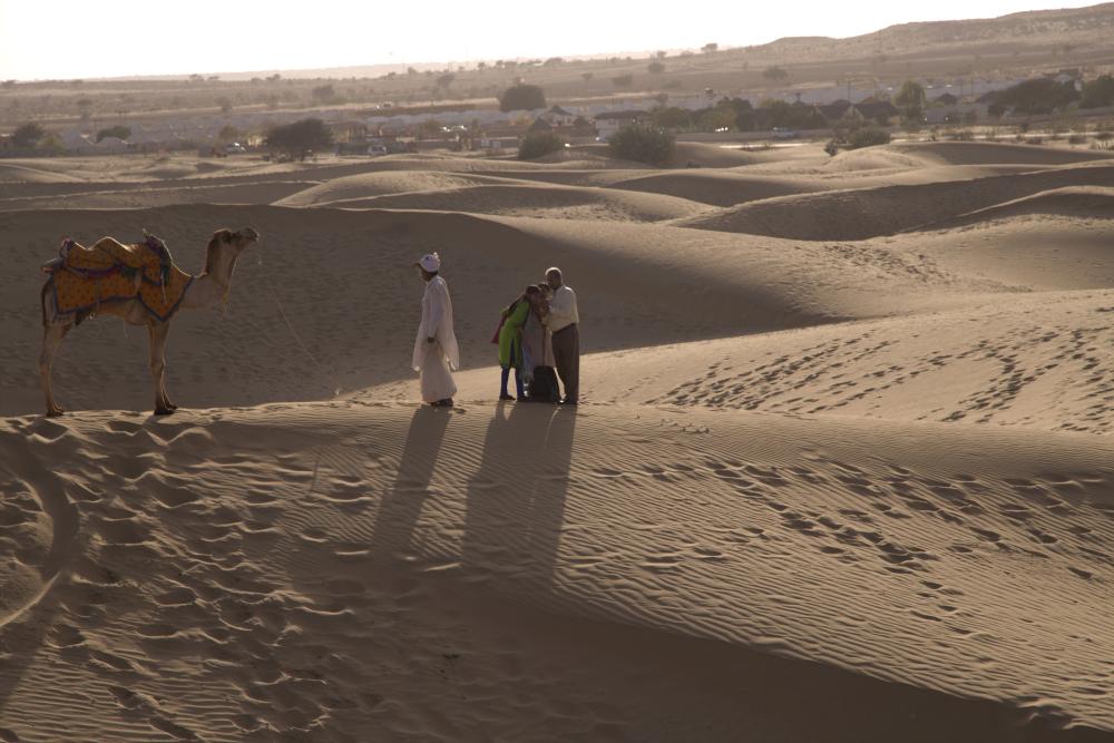 Selfies dans le désert