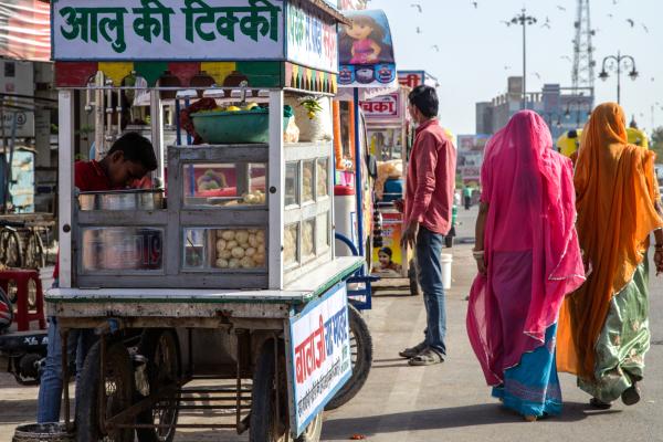 Dans la rue, à Bikaner.