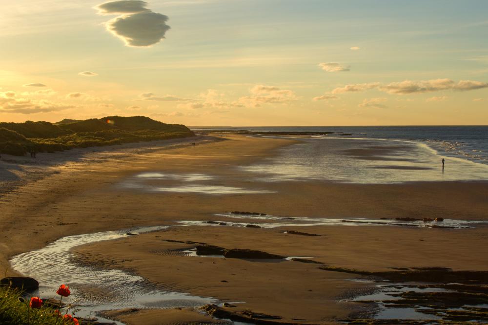 La plage de Seahouses
