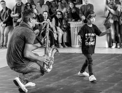 Jeune danseur de hip hop