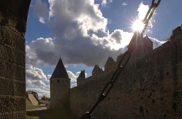 Porte Narbonnaise à Carcassonne.