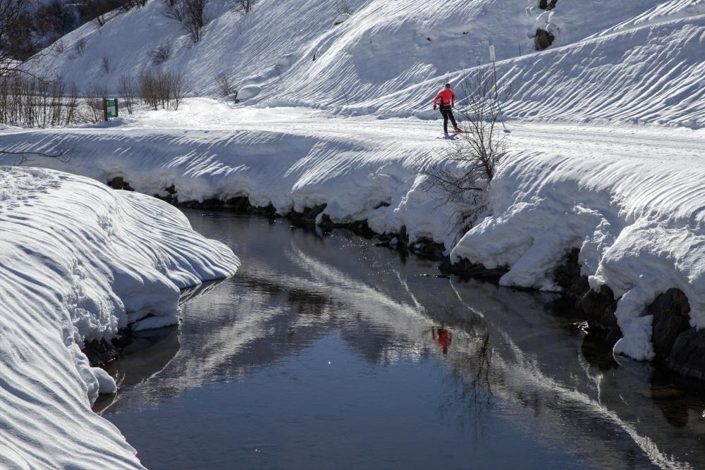 Reflet de skieur