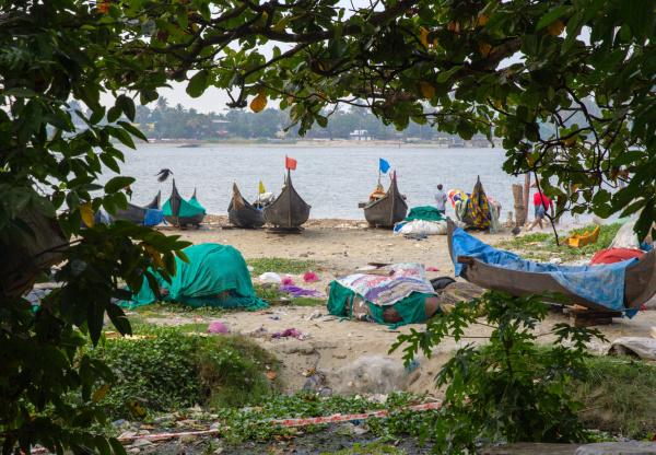 Bateaux de pêche à Cochin