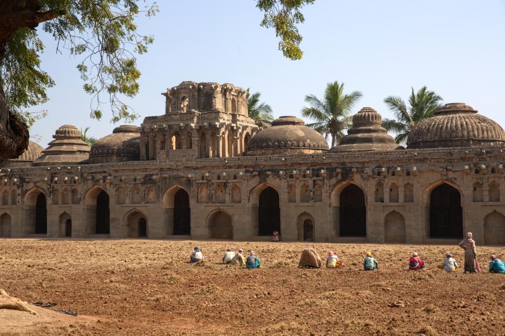 Palais des éléphants à Hampi