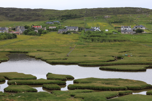 Les petites îles de Harris.