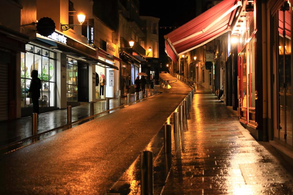 Les ruelles le soir...