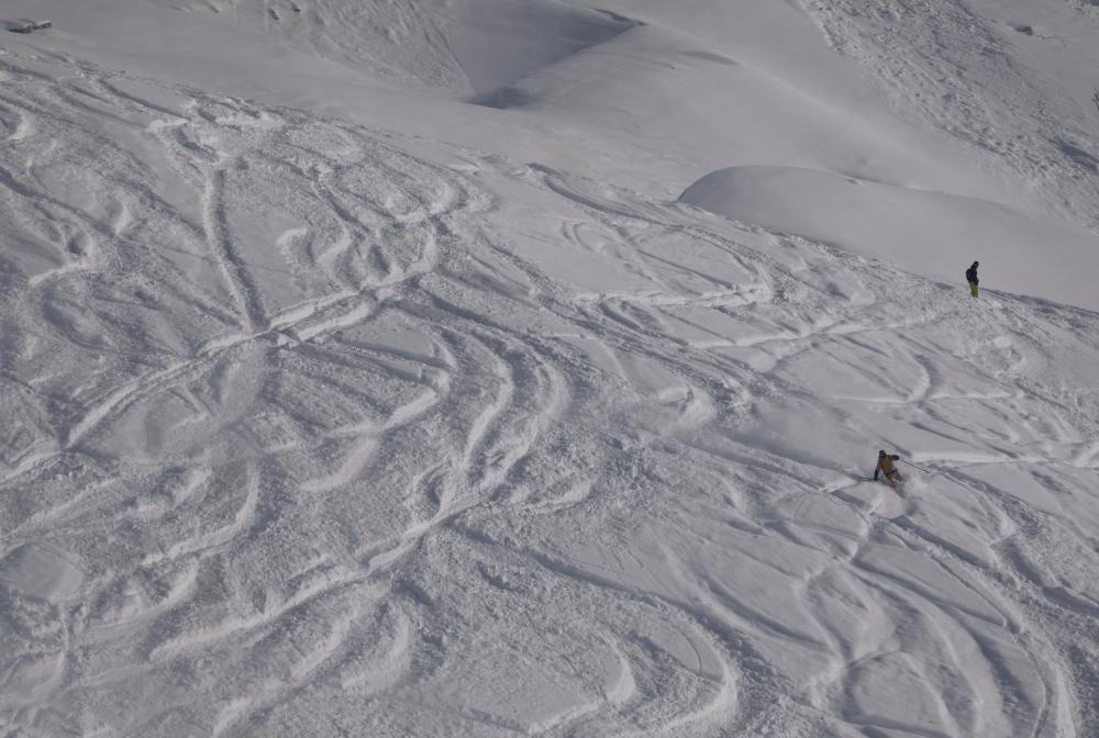 Traces de skieurs