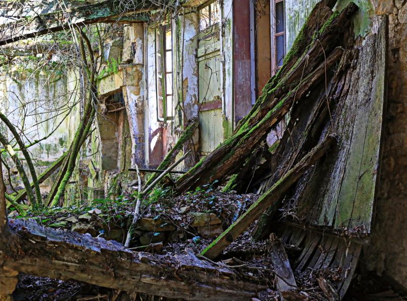 La maison abandonnée...