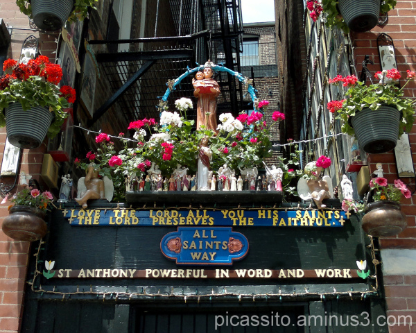 Shrine to St. Anthony in the North End