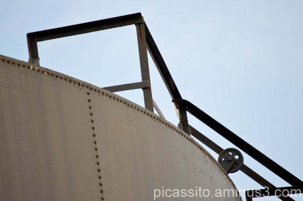 On Top of an Oil Tank