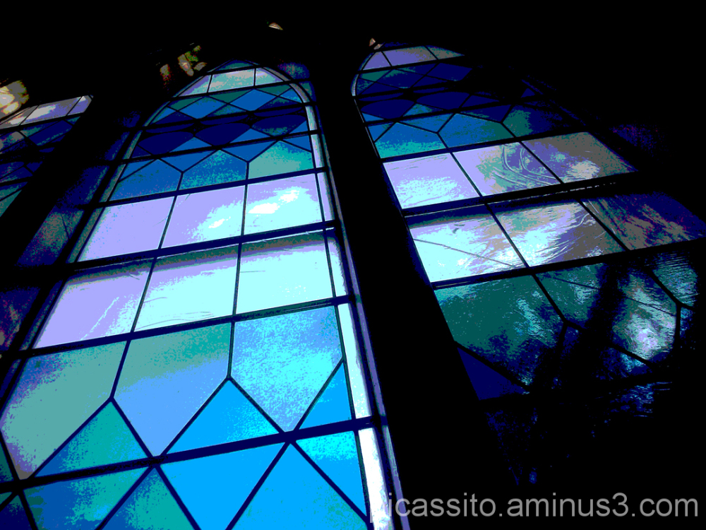 Stained Glass in Blue