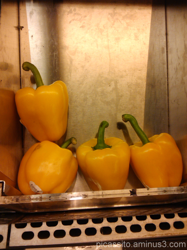 Yellow Peppers in Whole Foods