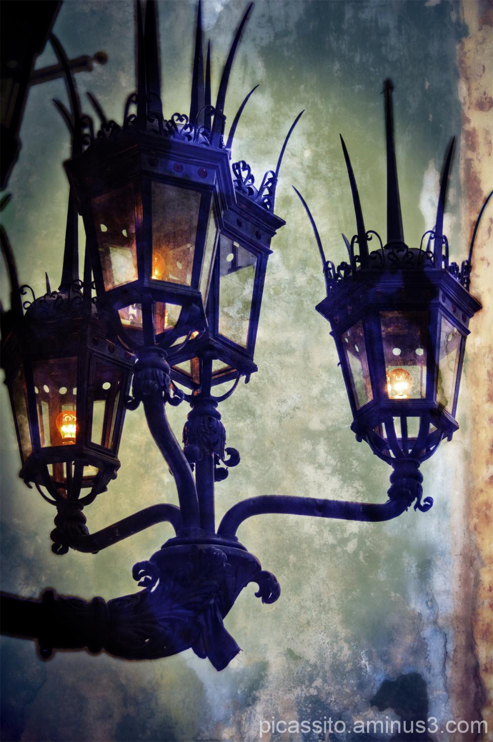 Boston Public Library Wrought Iron Lights