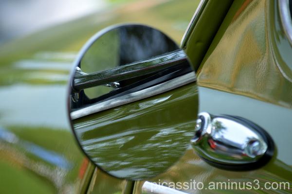 Green Fiat Mirror