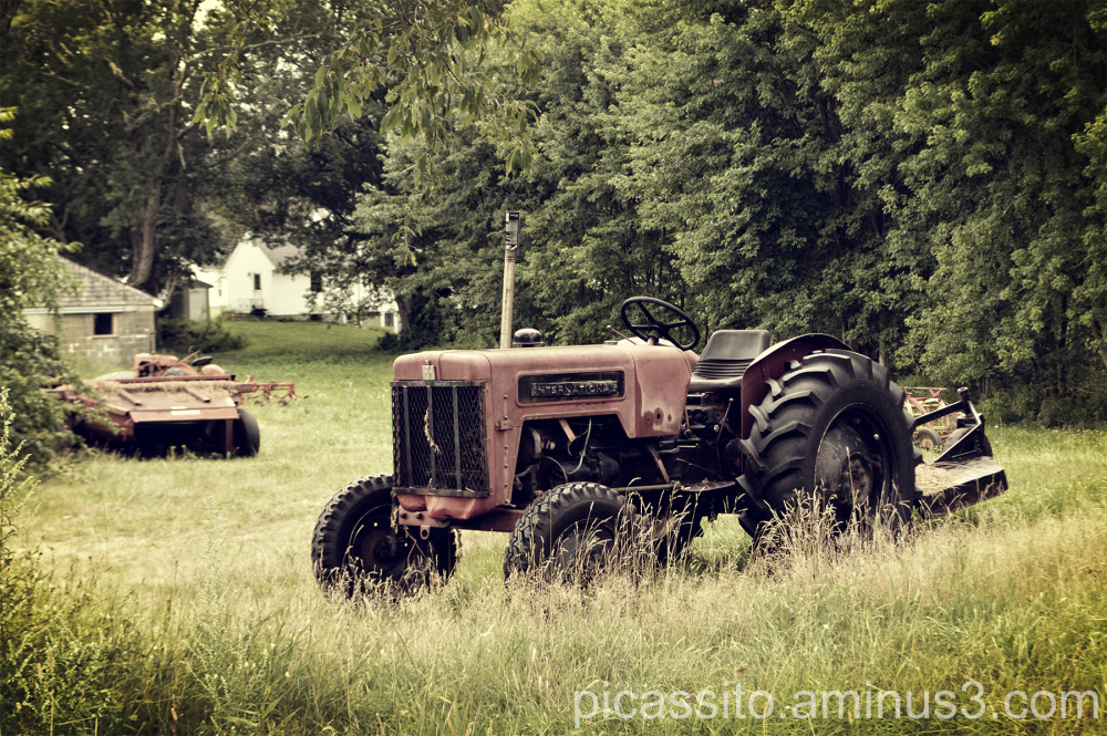 Red Tractor Landscape