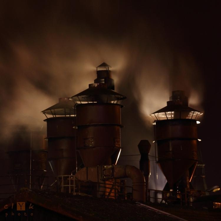 clYk chimney smoke night cheminée fumées nuit