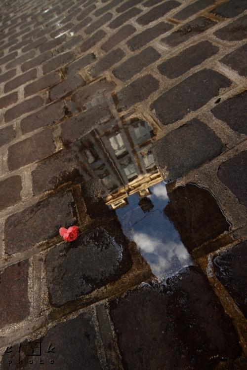 clYk reflection water pavement reflet eau pavés