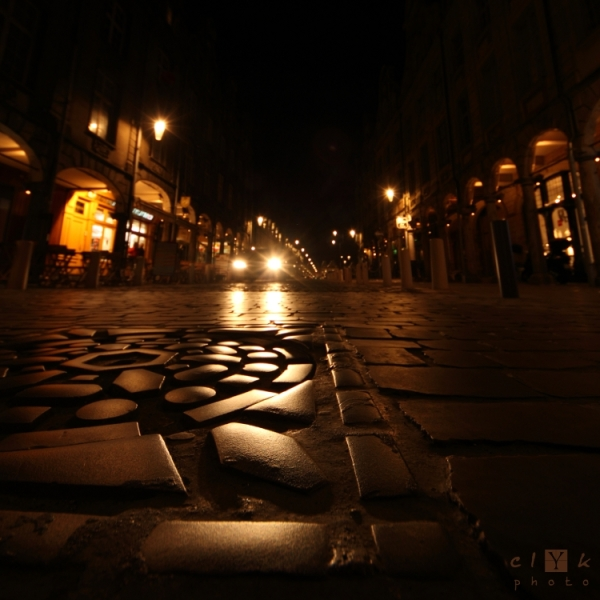 clYk night pavement nuit pavé